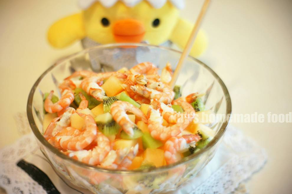 Home Cooking Recipe: Cantaloupe Shrimp Salad