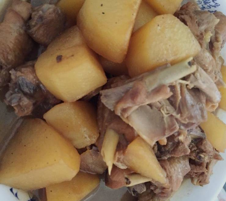 Home Cooking Recipe: Chicken, potatoes, potatoes