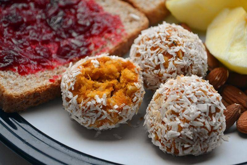 Home Cooking Recipe: Coconut sweet potato oat ball