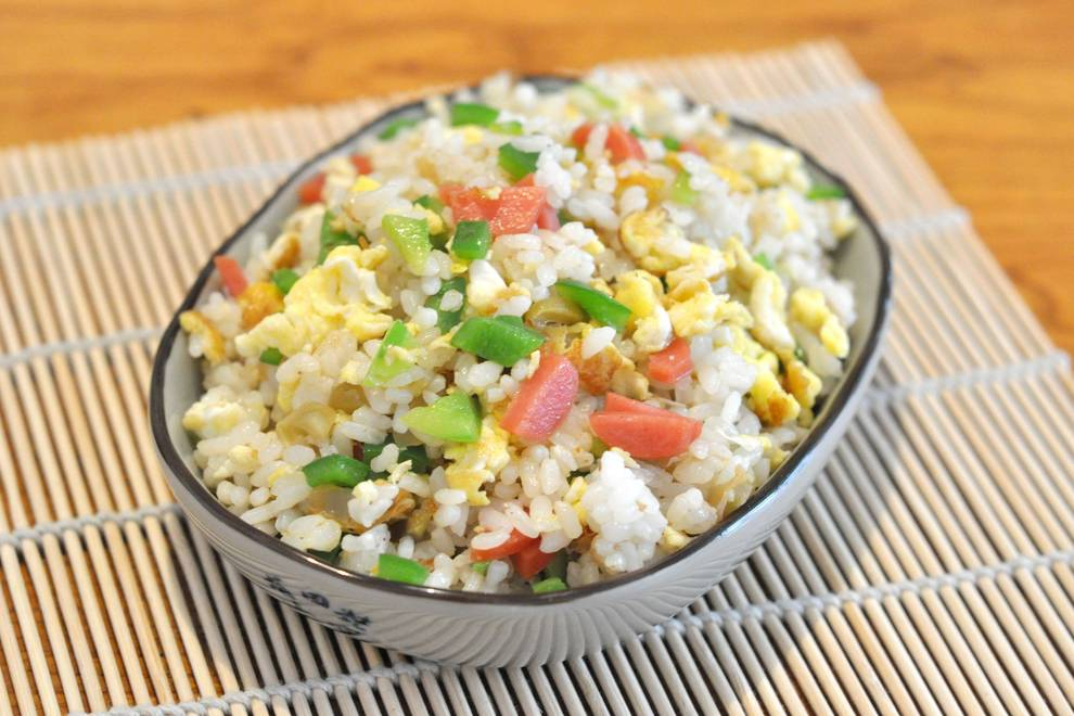 Home Cooking Recipe: Colorful mustard fried rice