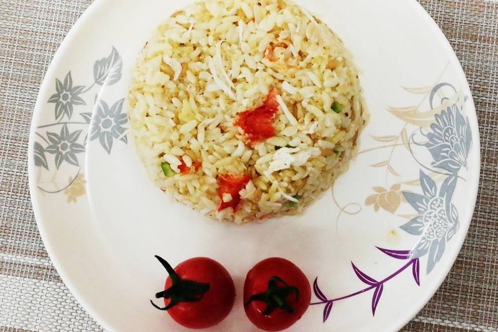 Home Cooking Recipe: Crab fried rice