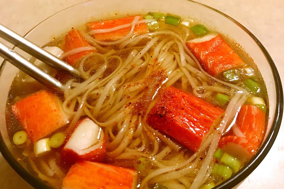 Home Cooking Recipe: Crab stick soup noodles
