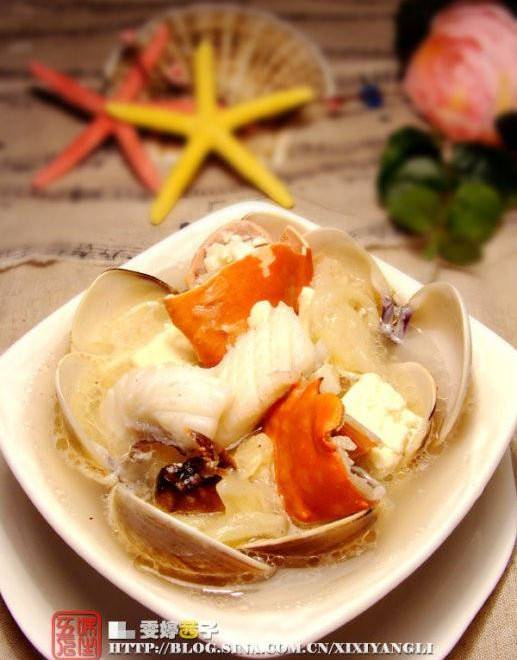 Home Cooking Recipe: Crab white tofu seafood soup