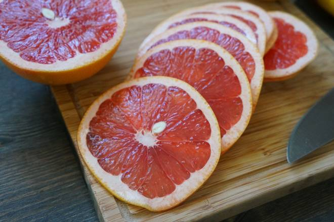 Home Cooking Recipe: Cross section of grapefruit.