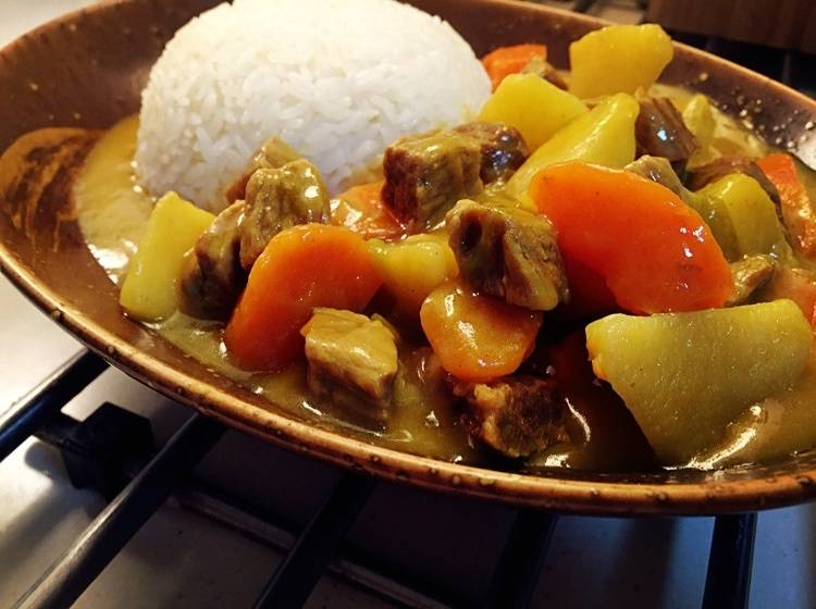 Home Cooking Recipe: Curry beef rice