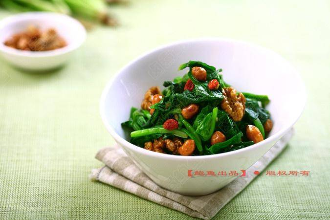 Home Cooking Recipe: Double spinach with spinach