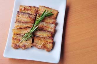 Home Cooking Recipe: Dried fried pork belly