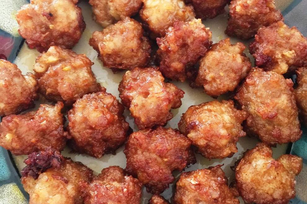 Home Cooking Recipe: Dry fried meatballs