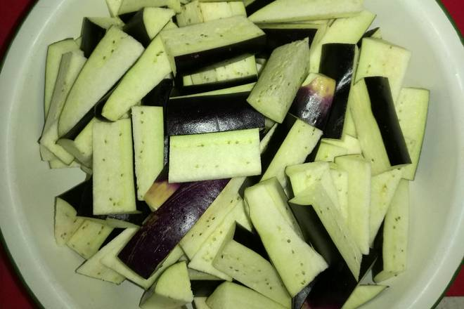 Home Cooking Recipe: Eggplant cut strips