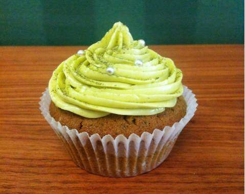 Home Cooking Recipe: French cream top matcha cup cake CUPCAKE