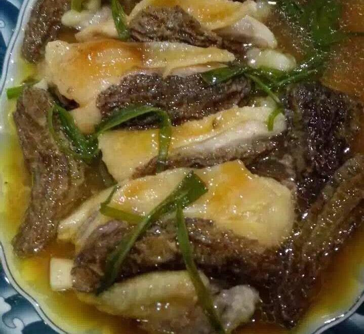 Home Cooking Recipe: Fresh morel steamed chicken