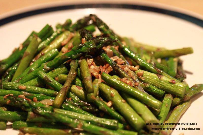 Home Cooking Recipe: Fried asparagus with garlic
