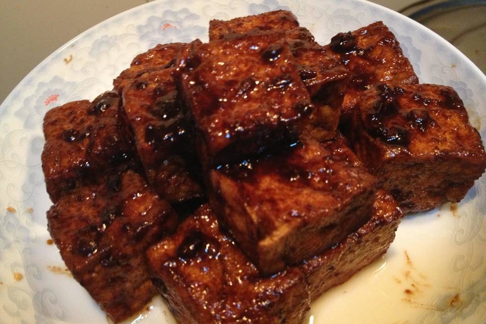 Home Cooking Recipe: Fried bean curd with old tofu