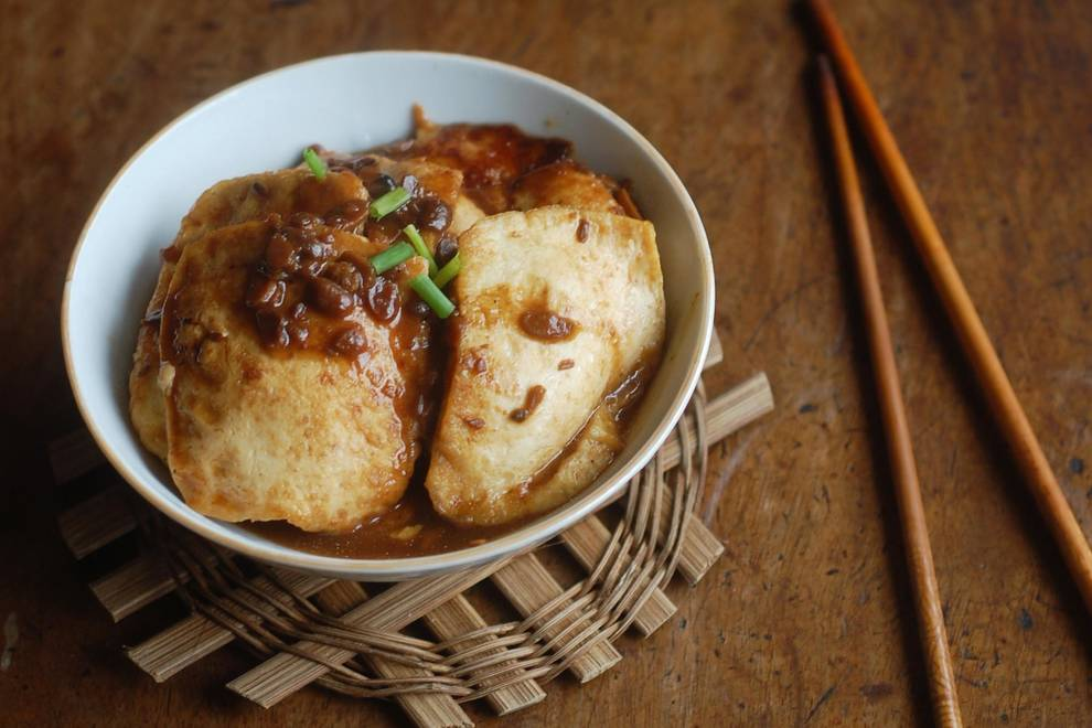 Home Cooking Recipe: Fried bean curd with tofu