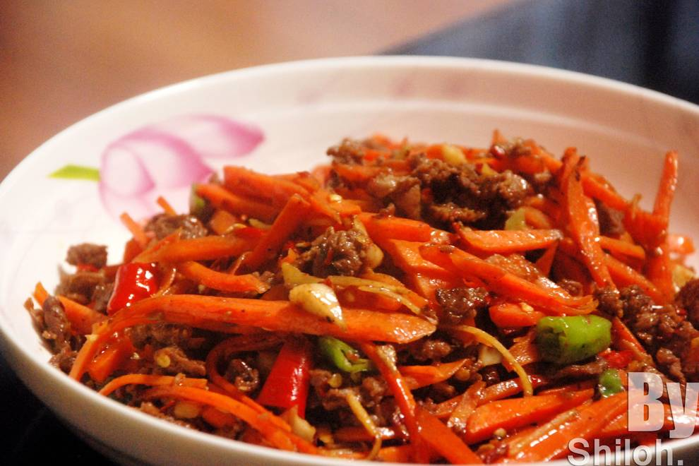 Home Cooking Recipe: Fried beef with carrot