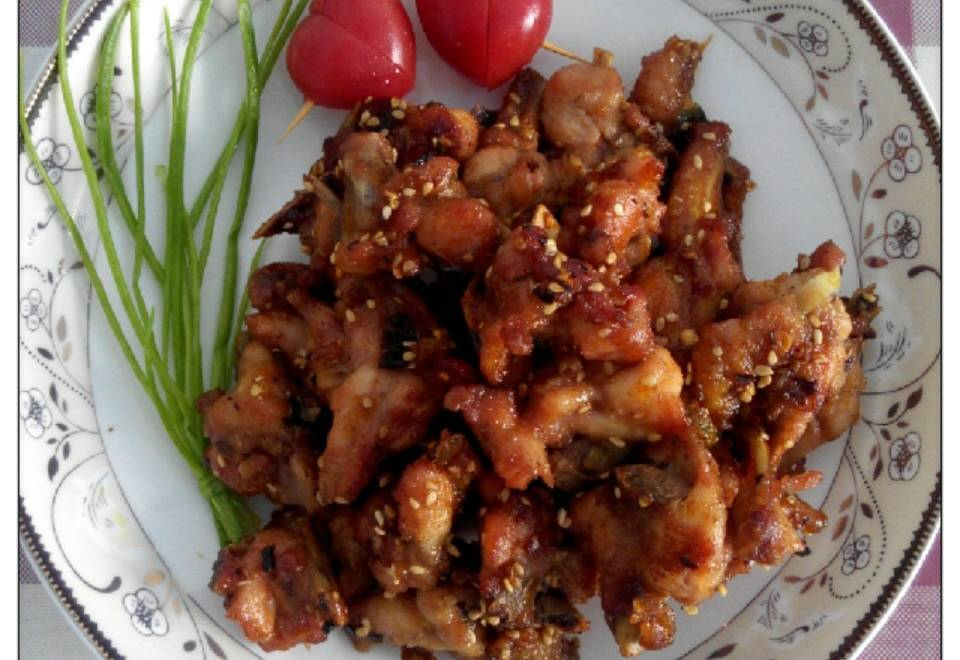 Home Cooking Recipe: Fried chicken fork