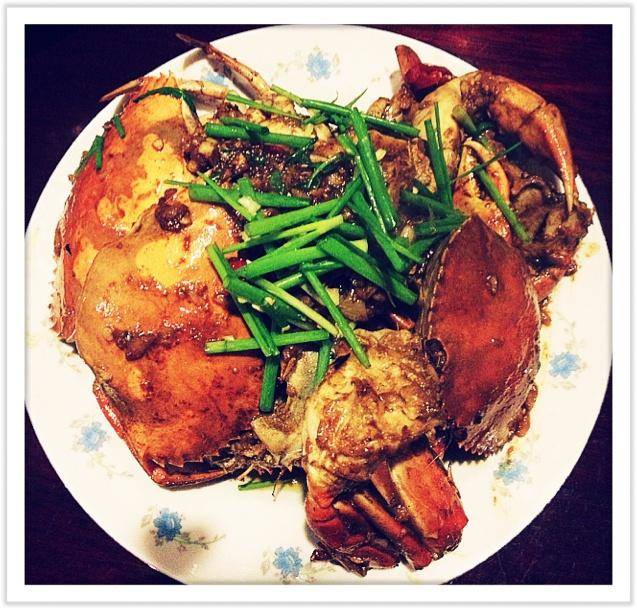 Home Cooking Recipe: Fried crab with onion ginger