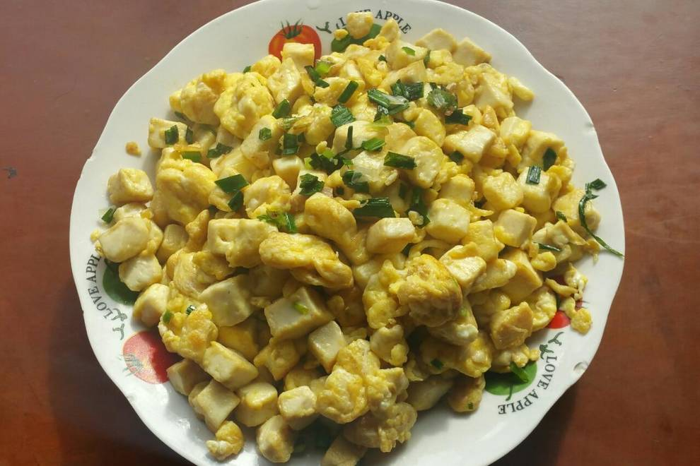 Home Cooking Recipe: Fried egg tofu