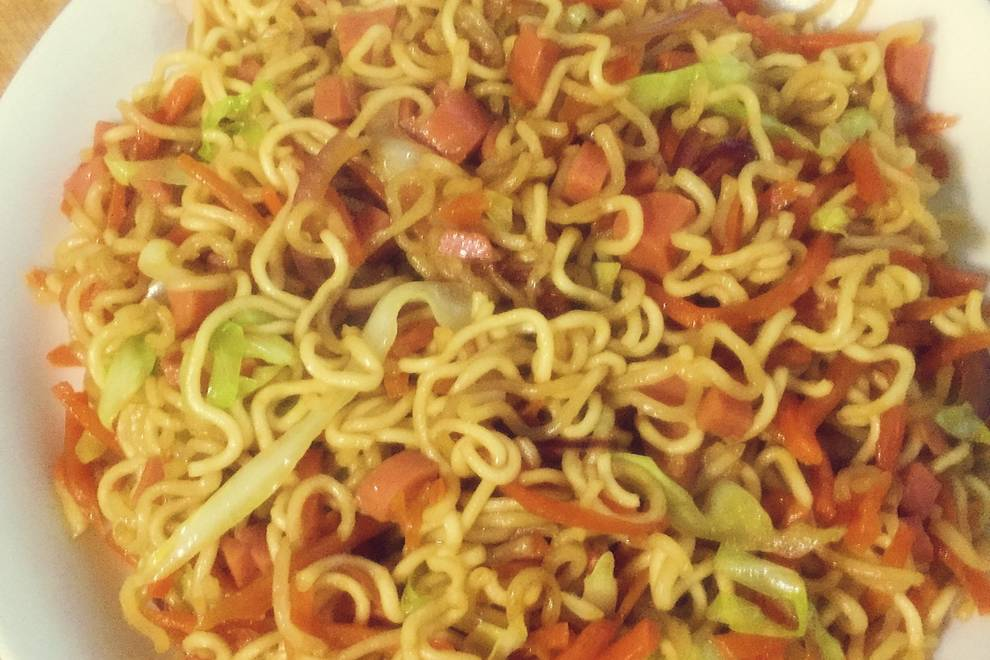 Home Cooking Recipe: Fried instant noodles