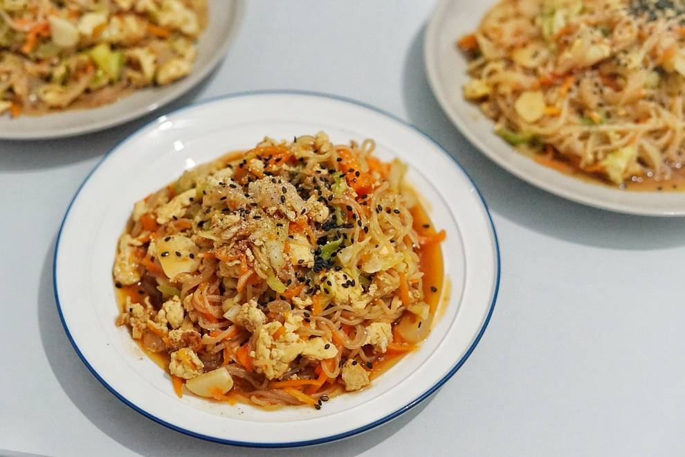 Home Cooking Recipe: Fried konjac noodles