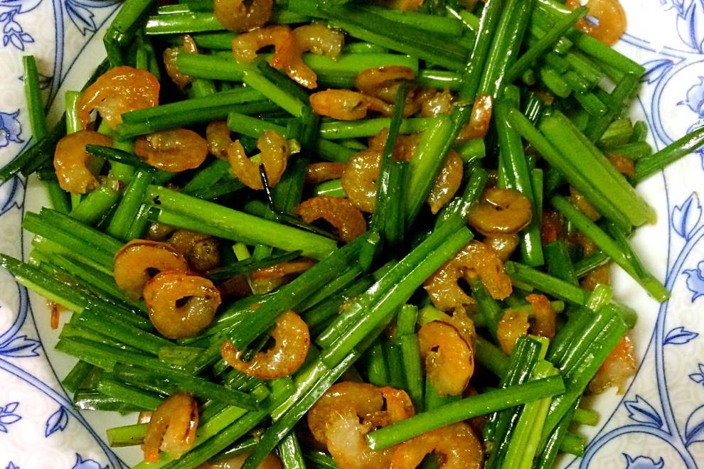 Home Cooking Recipe: Fried leek with chives