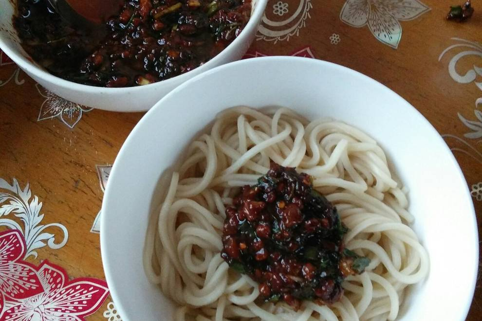 Home Cooking Recipe: Fried noodles (dish sauce and noodles)