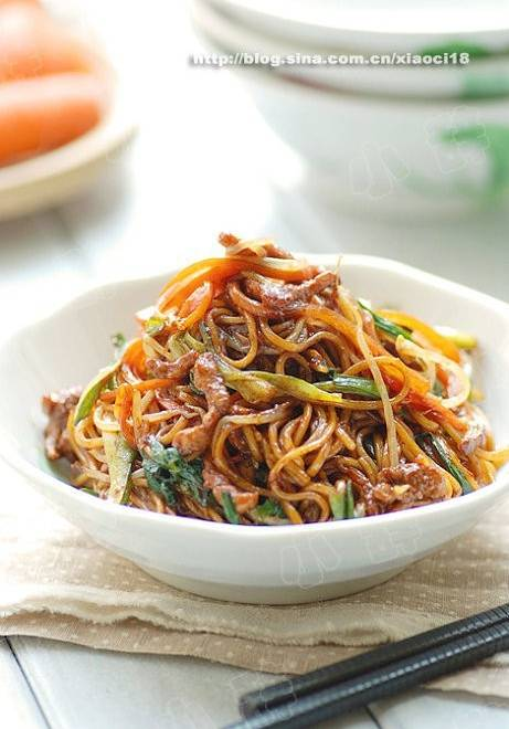 Home Cooking Recipe: Fried noodles with pork