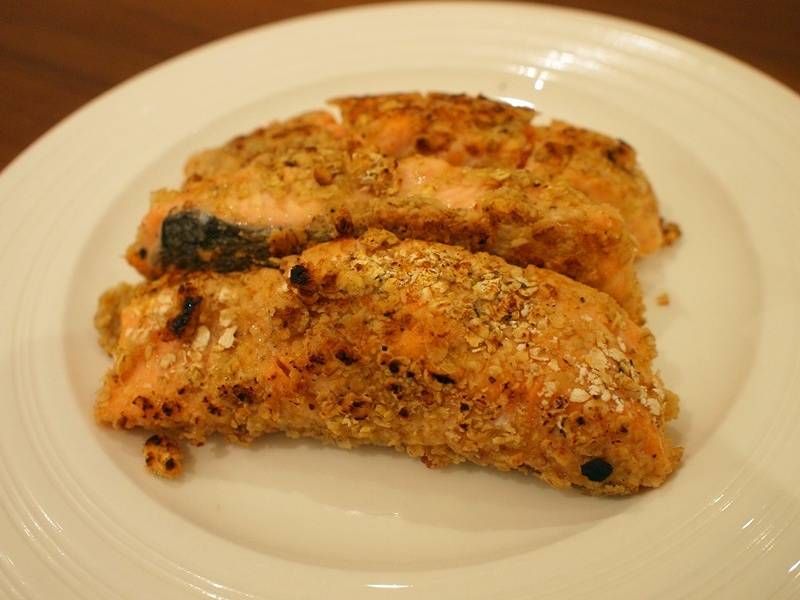 Home Cooking Recipe: Fried oatmeal with salmon