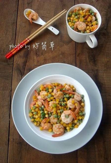Home Cooking Recipe: Fried peas with corn peas