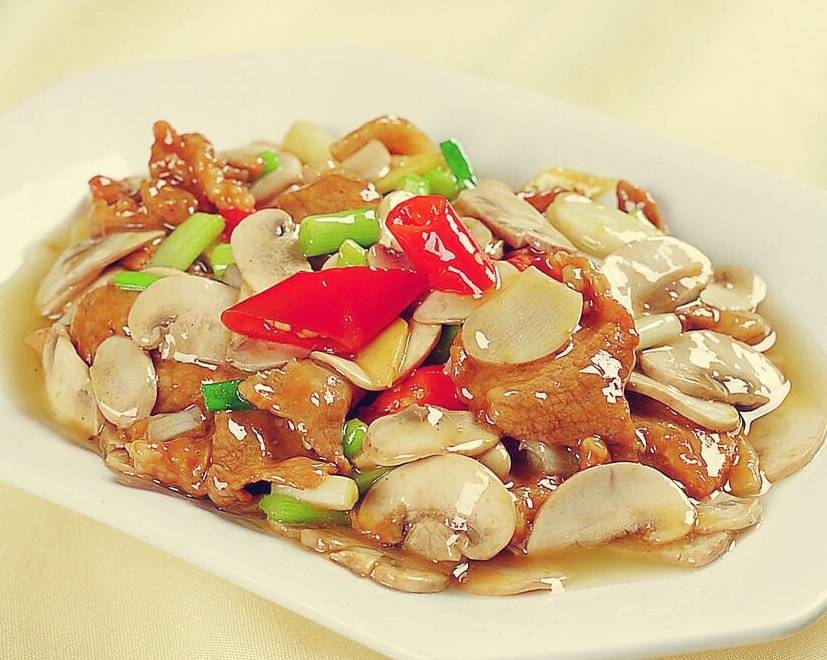 Home Cooking Recipe: Fried pork with mushrooms
