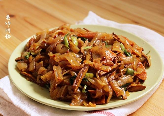 Home Cooking Recipe: Fried rice noodles