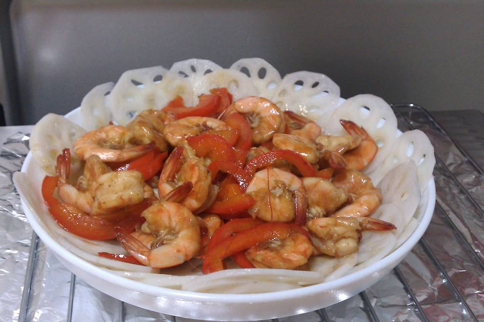 Home Cooking Recipe: Fried sea shrimp with seafood sauce