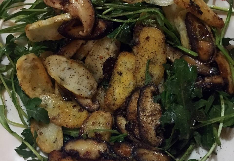 Home Cooking Recipe: Fried Shallot Rice Cake with Arugula