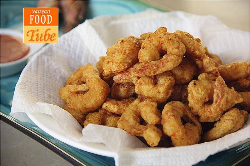Home Cooking Recipe: Fried shrimps Prawn Popcorn