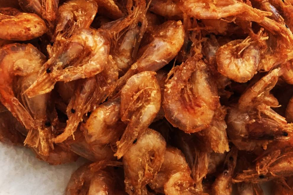 Home Cooking Recipe: Fried small green shrimp