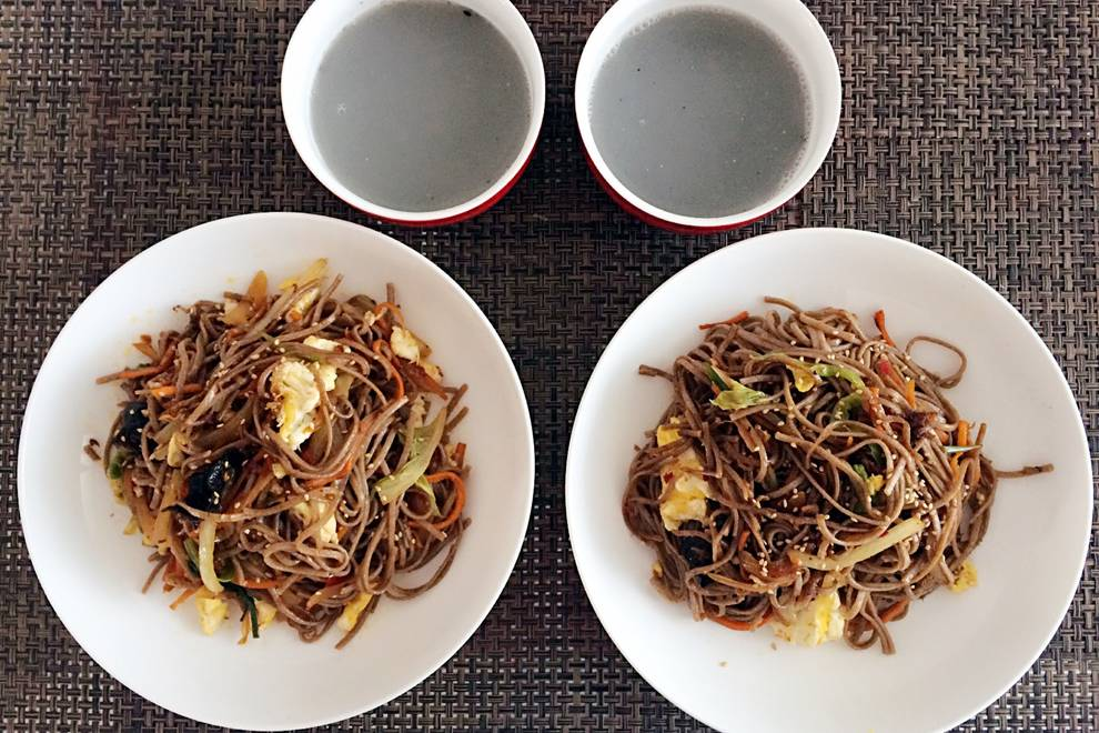Home Cooking Recipe: Fried soba noodles