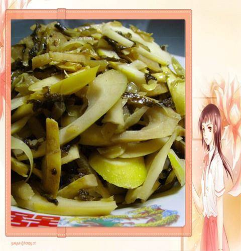 Home Cooking Recipe: Fried spring bamboo shoots