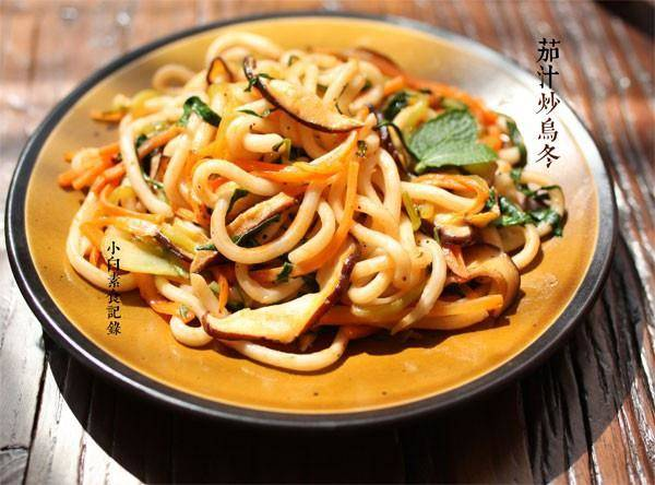 Home Cooking Recipe: Fried udon noodles with tomato sauce