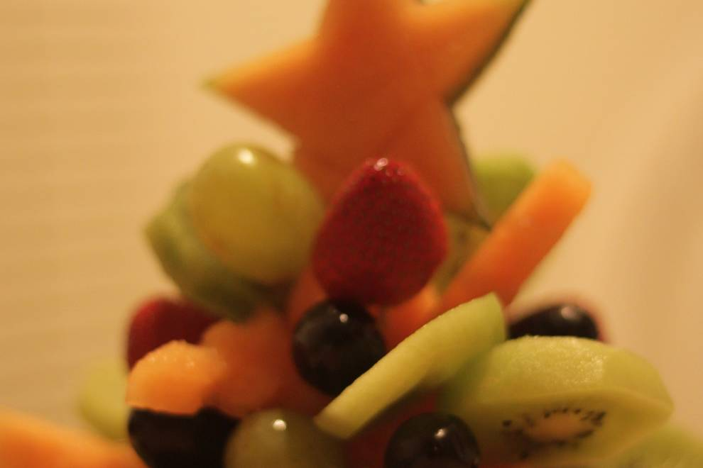 Home Cooking Recipe: Fruit christmas tree