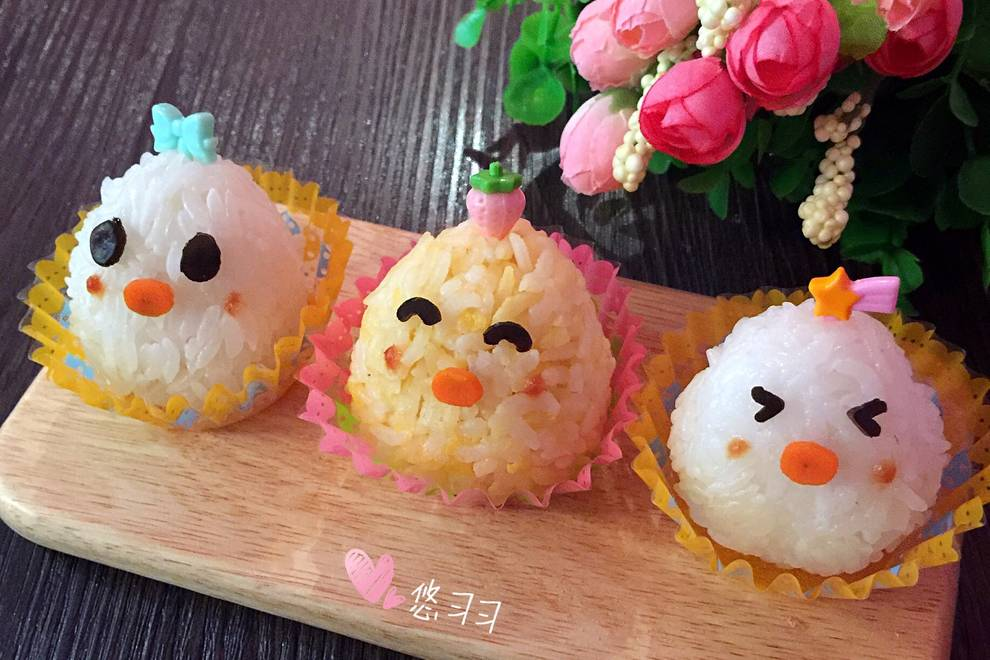Home Cooking Recipe: Fun cartoon rice ball - stay cute chick