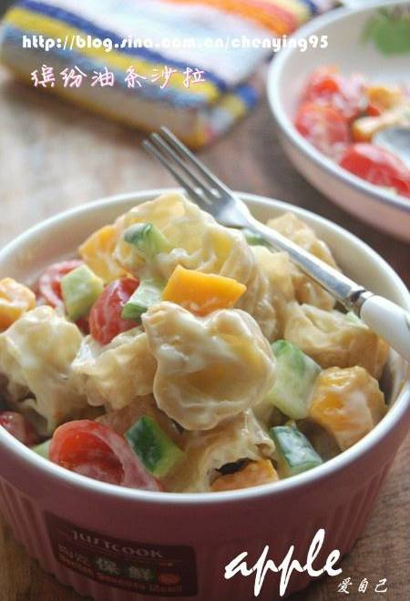 Home Cooking Recipe: Fun fritter salad