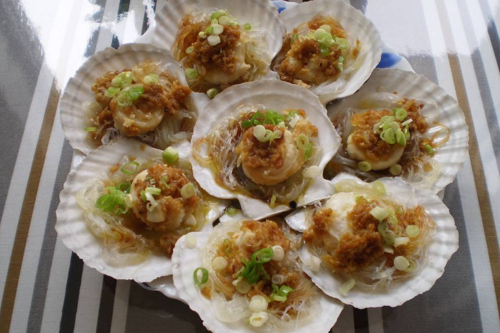 Home Cooking Recipe: Garlic fan scallop