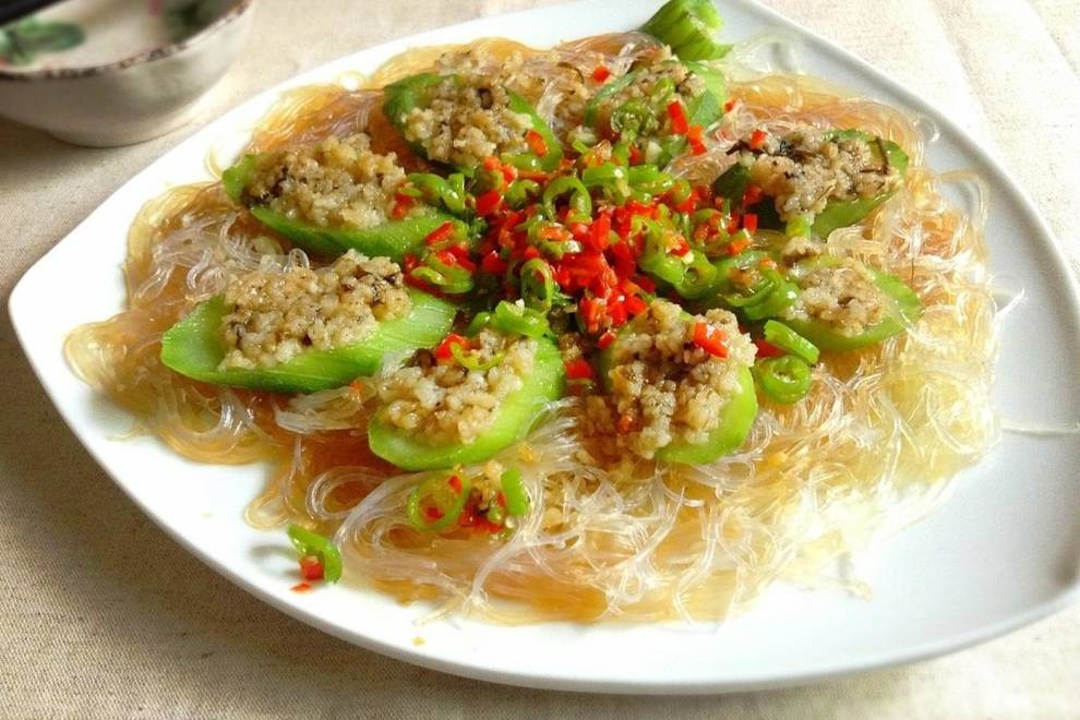 Home Cooking Recipe: Garlic fans steamed loofah