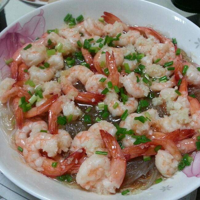 Home Cooking Recipe: Garlic fans steamed with shrimp