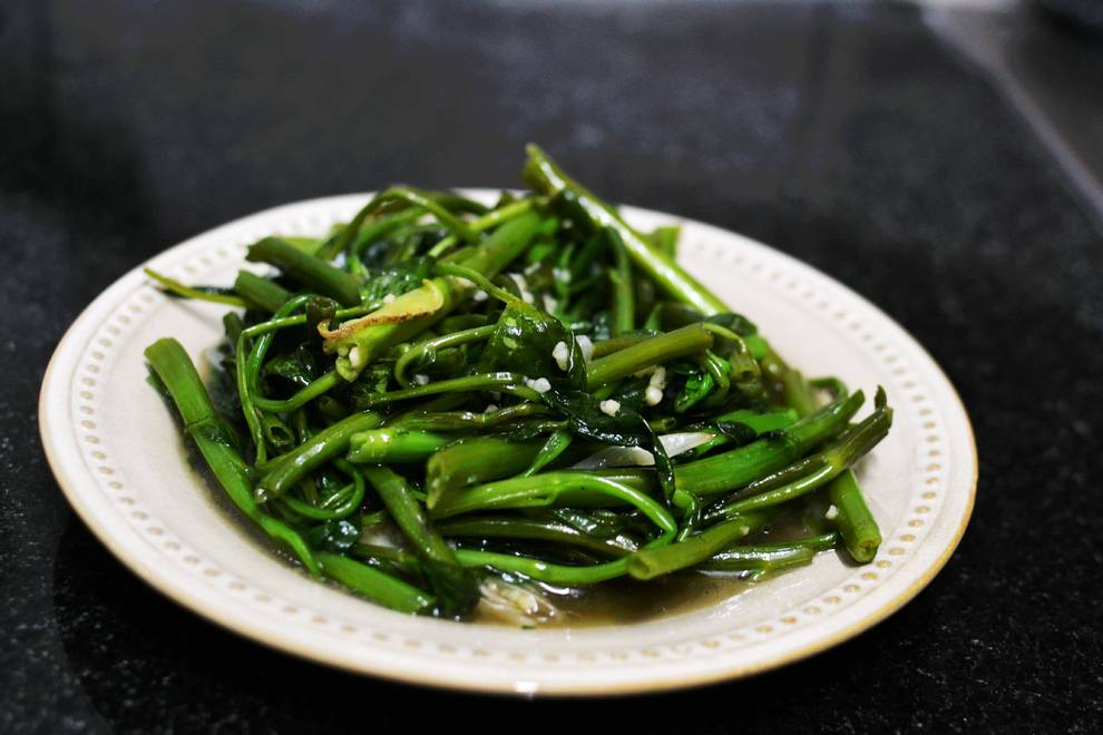 Home Cooking Recipe: Garlic spinach ~ stir-fried spinach ~