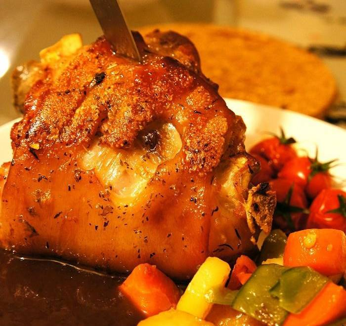 Home Cooking Recipe: German roast pork knuckle