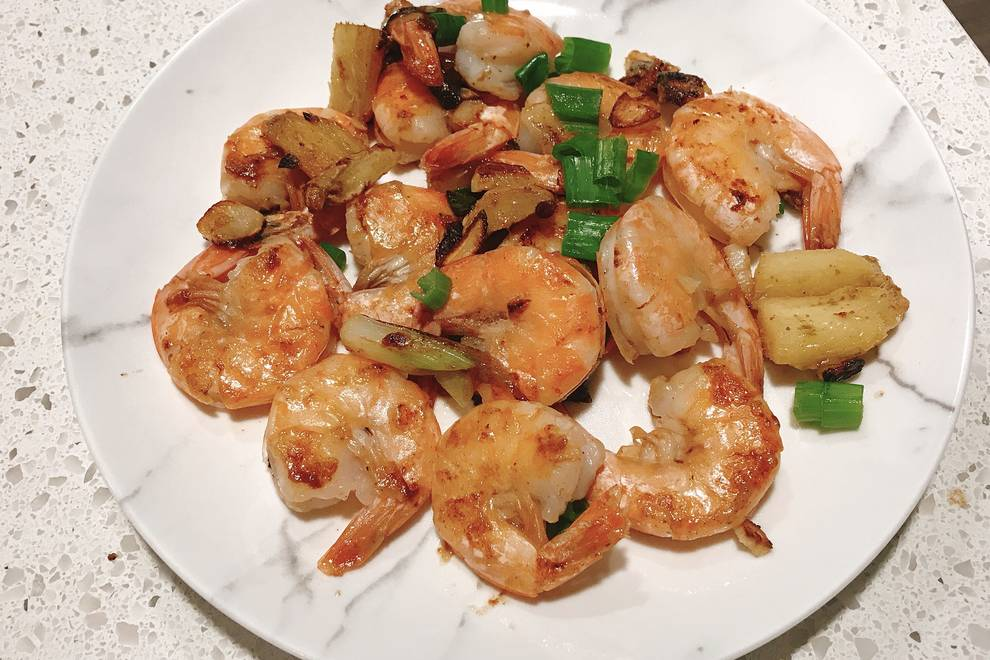 Home Cooking Recipe: Ginger and garlic fried shrimp
