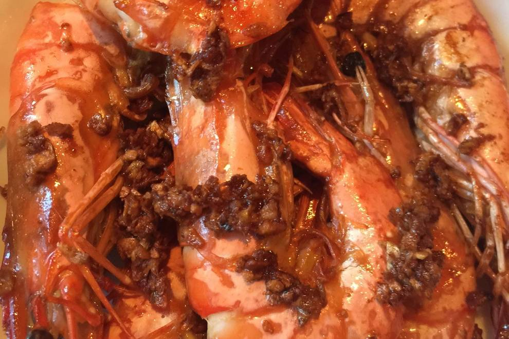 Home Cooking Recipe: Ginger and garlic sea shrimp
