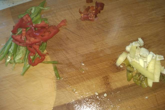 Home Cooking Recipe: Ginger, garlic, pickled pepper, cut red pepper