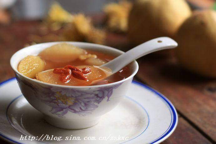 Home Cooking Recipe: Ginger honey pear soup